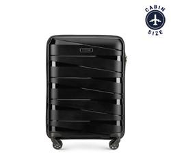 Kabin bőrönd, fekete, 56-3T-791-10, Fénykép 1