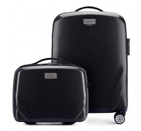 Kis bőrönd és neszeszer, fekete, 56-3P-571_4-10, Fénykép 1