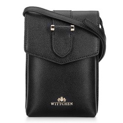 Kis női táska croco bőrből, fekete, 92-2E-652-1, Fénykép 1