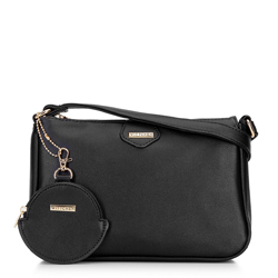 Kis női táska kulcstartóval, fekete, 92-4Y-579-1, Fénykép 1