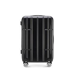 Közepes méretű bőrönd, fekete, 56-3A-342-10, Fénykép 1