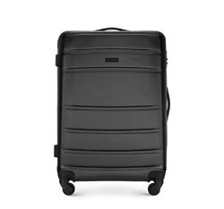 ABS közepes bőrönd bordás, fekete, 56-3A-652-10, Fénykép 1