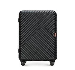Közepes bőrönd, fekete, 56-3P-842-10, Fénykép 1