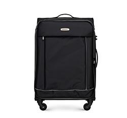 Közepes bőrönd basic, fekete, 56-3S-462-12, Fénykép 1