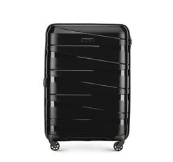 Közepes bőrönd, fekete, 56-3T-792-10, Fénykép 1