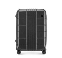 Közepes bőrönd polikarbonát, fekete, 56-3P-822-10, Fénykép 1