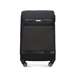 Közepes bőrönd, fekete, 56-3S-552-10, Fénykép 1