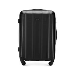 Polikarbonát közepes méretű bőrönd, fekete, 56-3P-112-10, Fénykép 1