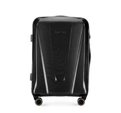 Közepes méretű polikarbonát bőrönd, fekete, 56-3P-122-10, Fénykép 1