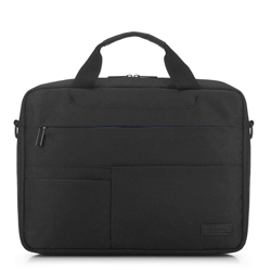 Laptop táska kontraszt zsebekkel, fekete, 91-3P-704-12, Fénykép 1