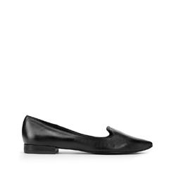 Lords hegyes cipő bőrből, fekete, 93-D-752-G-35, Fénykép 1