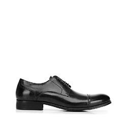 Magas fényű ruhacipő, fekete, 92-M-916-1-44, Fénykép 1