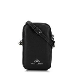 Mini táska bőrből szegecsekkel, fekete, 92-2E-313-1, Fénykép 1