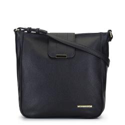 Egyszerű táska fémrúddal, fekete, 92-4Y-206-1, Fénykép 1