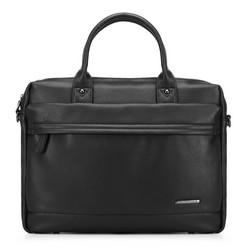Laptop táska eco bőrből rejtett zsebbel, fekete, 91-3P-600-1, Fénykép 1