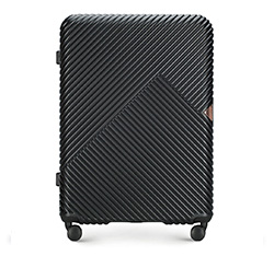 Nagy bőrönd, fekete, 56-3P-843-10, Fénykép 1