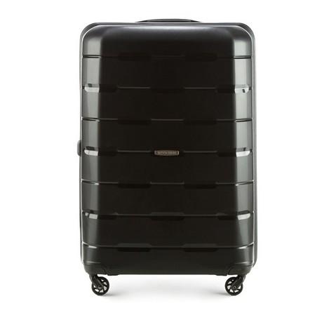 Nagy bőrönd, fekete, 56-3T-723-88, Fénykép 1