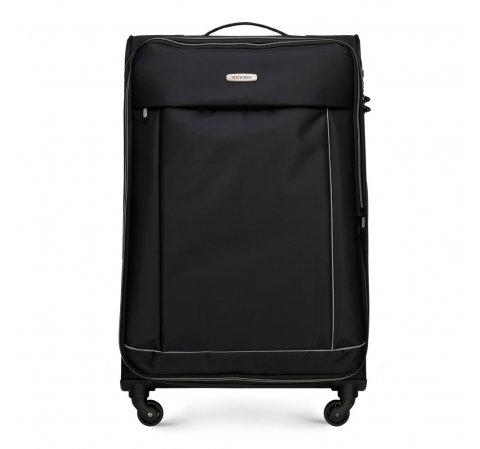 Nagy bőrönd basic, fekete, 56-3S-463-55, Fénykép 1