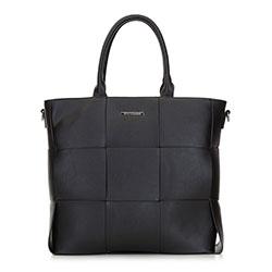 Shopper táska nagy fonott, fekete, 91-4Y-407-1, Fénykép 1