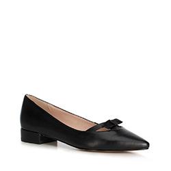 Női balerinacipő masnival, fekete, 90-D-966-1-37, Fénykép 1