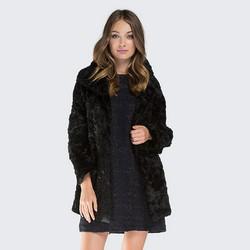 Női báránybőr kabát, fekete, 87-9W-107-1-S, Fénykép 1