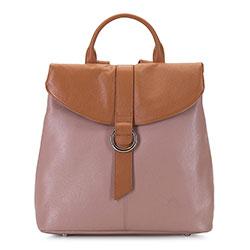 Női bőr hátizsák, rózsaszínes barna, 92-4E-304-9, Fénykép 1