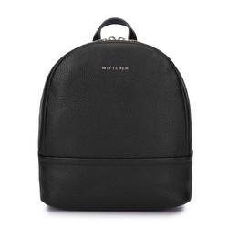 Női minimalista bőr hátizsák kicsi, fekete, 93-4E-629-1, Fénykép 1
