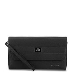 női bőr estélyi táska, fekete, 91-4E-623-1, Fénykép 1