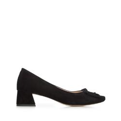 Női félcipő velúrból masnival, fekete, 92-D-952-1-39, Fénykép 1