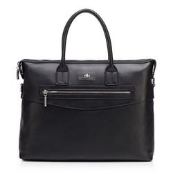 Női klasszikus bőr laptop táska, fekete, 92-4E-639-1, Fénykép 1