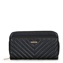 Női steppelt pénztárca, fekete, 92-1Y-576-1, Fénykép 1