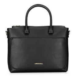 Női táska zsebbel  egy netbook számára, fekete, 92-4Y-221-1, Fénykép 1