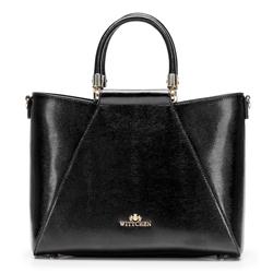 Nőt táska gyíkbőrből arany díszítéssel, fekete, 92-4E-614-1, Fénykép 1
