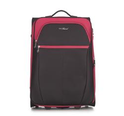 Közepes bőrönd, fekete piros, V25-3S-232-15, Fénykép 1