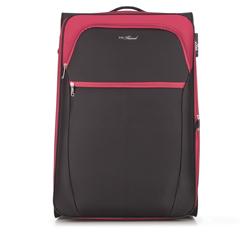 Nagy bőrönd, fekete piros, V25-3S-233-15, Fénykép 1