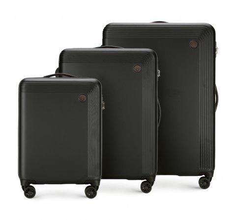 Bőröndszettek, fekete, 56-3A-62S-44, Fénykép 1