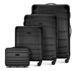 ABS bőröndkészlet, fekete, 56-3A-65K-10, Fénykép 1