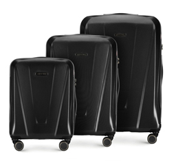 3 db-os bőröndszett polikarbonátból, fekete, 56-3P-12S-10, Fénykép 1