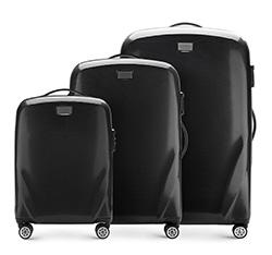 Bőröndszettek, fekete, 56-3P-57S-10, Fénykép 1