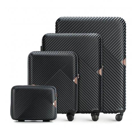 Bőröndszettek, fekete, 56-3P-84K-88, Fénykép 1