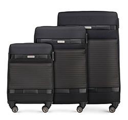 Bőröndszettek, fekete, 56-3S-55S-10, Fénykép 1