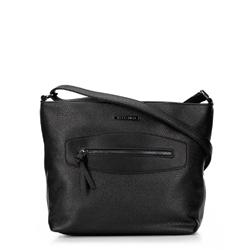 Shoppertáska díszített panellel, fekete, 92-4Y-204-1, Fénykép 1