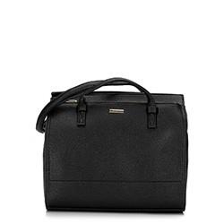 Shoppper táska nagy zsebbel, fekete, 92-4Y-611-1, Fénykép 1