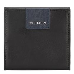 Bőr pénztárca, emblémázással, fekete-sötétkék, 26-1-433-17, Fénykép 1