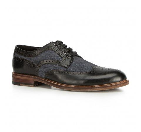 Férfi cipők, fekete-sötétkék, 90-M-510-1-39, Fénykép 1