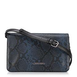 Női táska, fekete-sötétkék, 89-4Y-410-1N, Fénykép 1