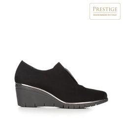 Strasszos platform női félcipő, fekete, 92-D-654-1-35, Fénykép 1