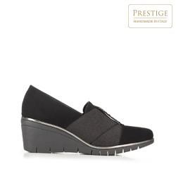 Strasszos platform női félcipő, fekete, 92-D-655-1-37, Fénykép 1