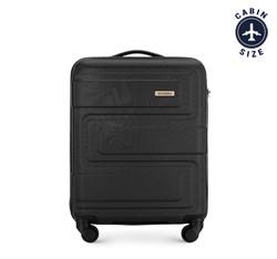 Kis bőrönd dombornyomott, fekete, 56-3A-631-10, Fénykép 1