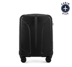 Kabinbőrönd polikarbonát vésett, fekete, 56-3P-811-10, Fénykép 1